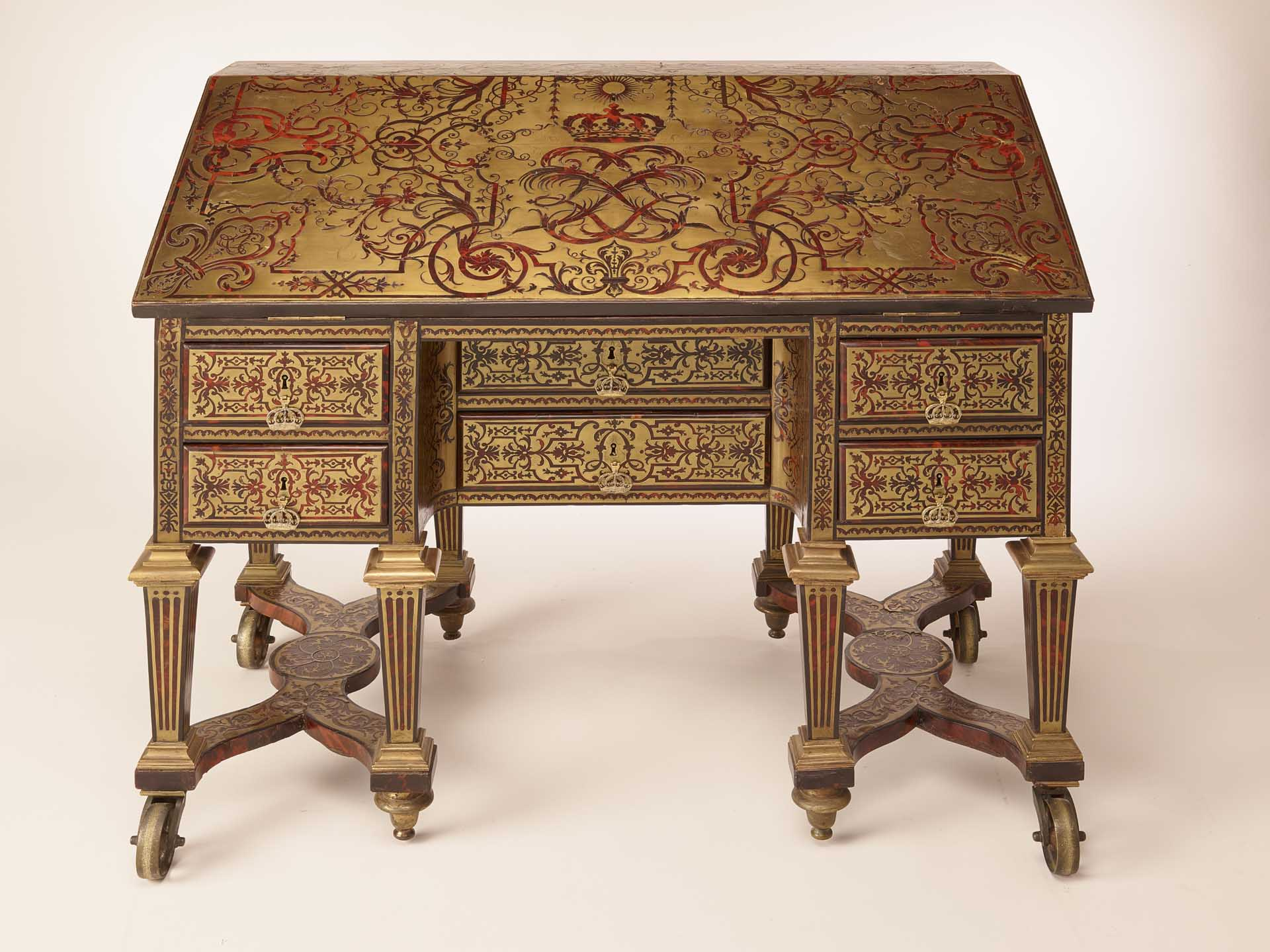Louis xiv s bureau returns to the ch teau de versailles axa